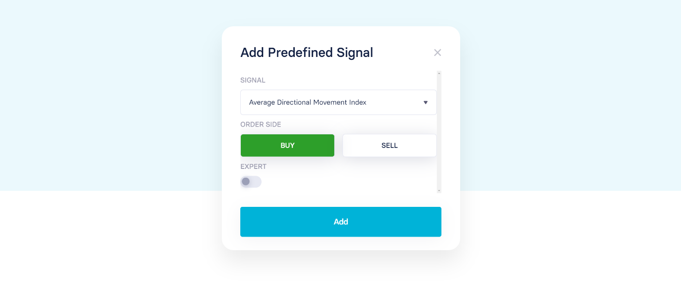 Adding 'buy' or 'sell' signals to a strategy
